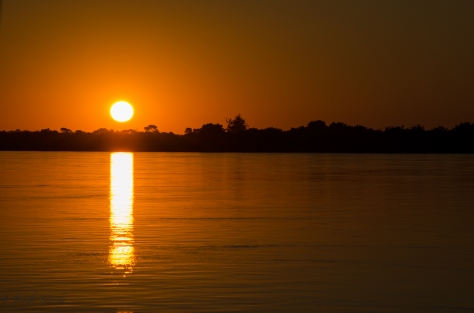 Sunset of the Zambezi River, April 2013