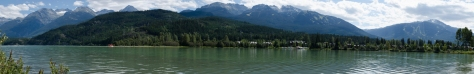 A panorama of Green Lake, just past upper Whistler Village on the way to Pemberton.