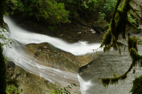 Cliff Falls in Maple Ridge, BC with a long exposure