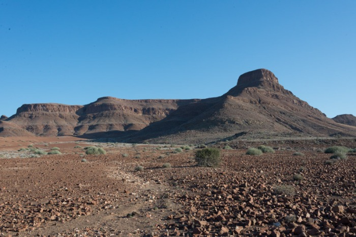 One of Damaraland's rocky hills.  Taken early in the day when the winds are low and the sky is free from dust.