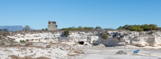 The old limestone quarry at Robben Island.