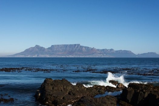 A view of Table Mountain from Robben Island.