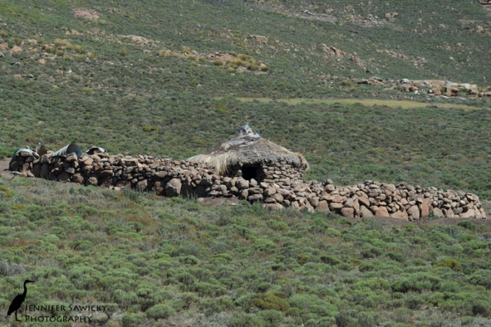 A traditional Lesotho herder's home.