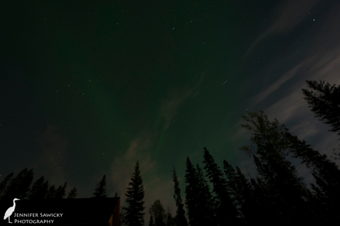 The aurora and the light from the moon. 10 sec, f3.5, ISO 320